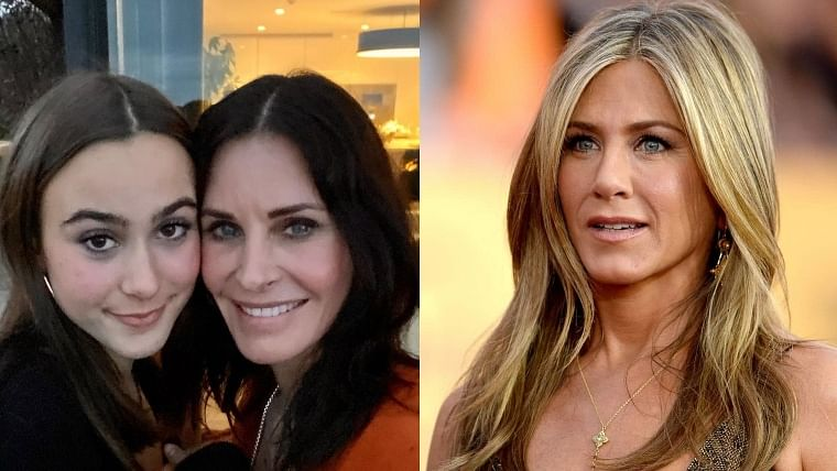 Godmother Jennifer Aniston thinks Courtney Cox's daughter Coco is growing up too fast
