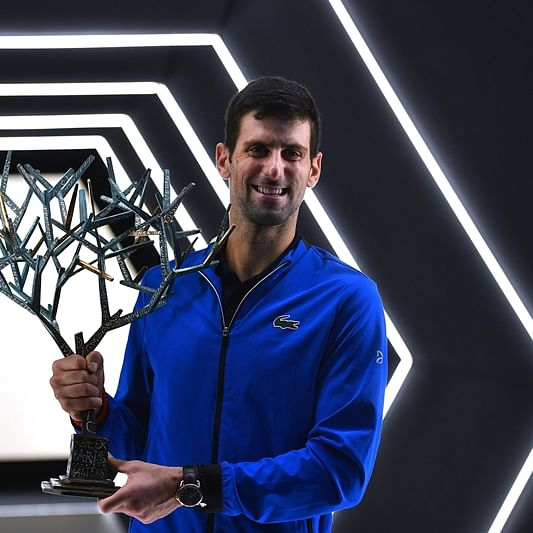 Novak Djokovic cruises past Canadian youngster Denis Shapovalov to fifth Bercy title