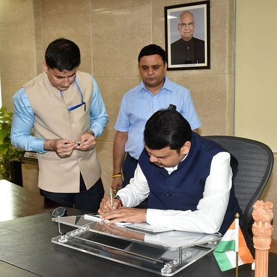 #ResignDevendraFraudnavis trends after Fadnavis takes charge as CM of Maharashtra
