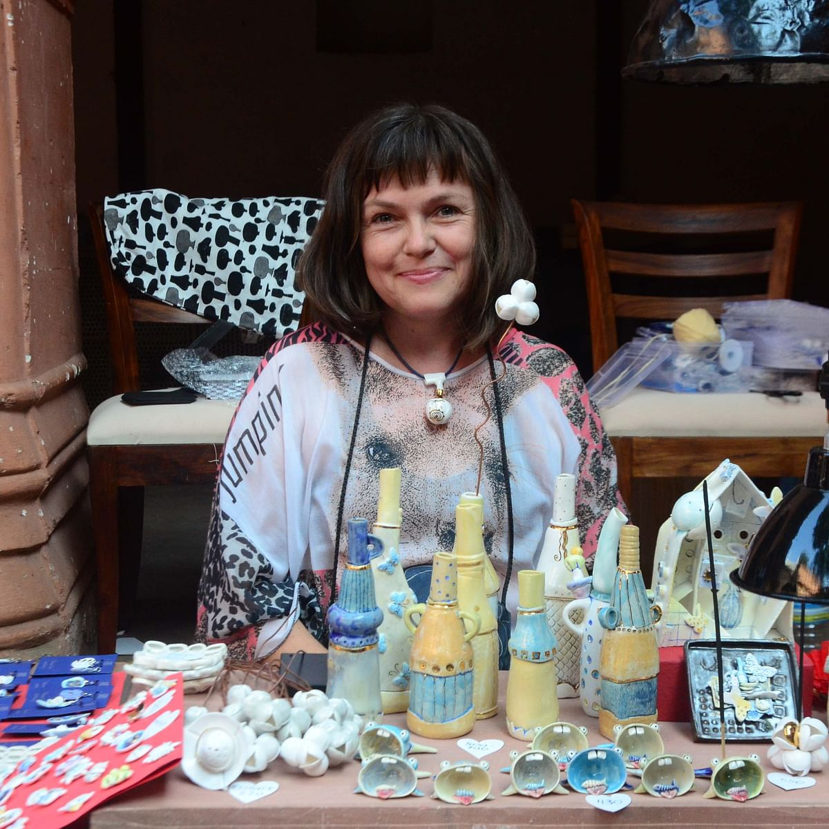 Bhopal: From Russia with love: Renata showcases her ware at potters' event