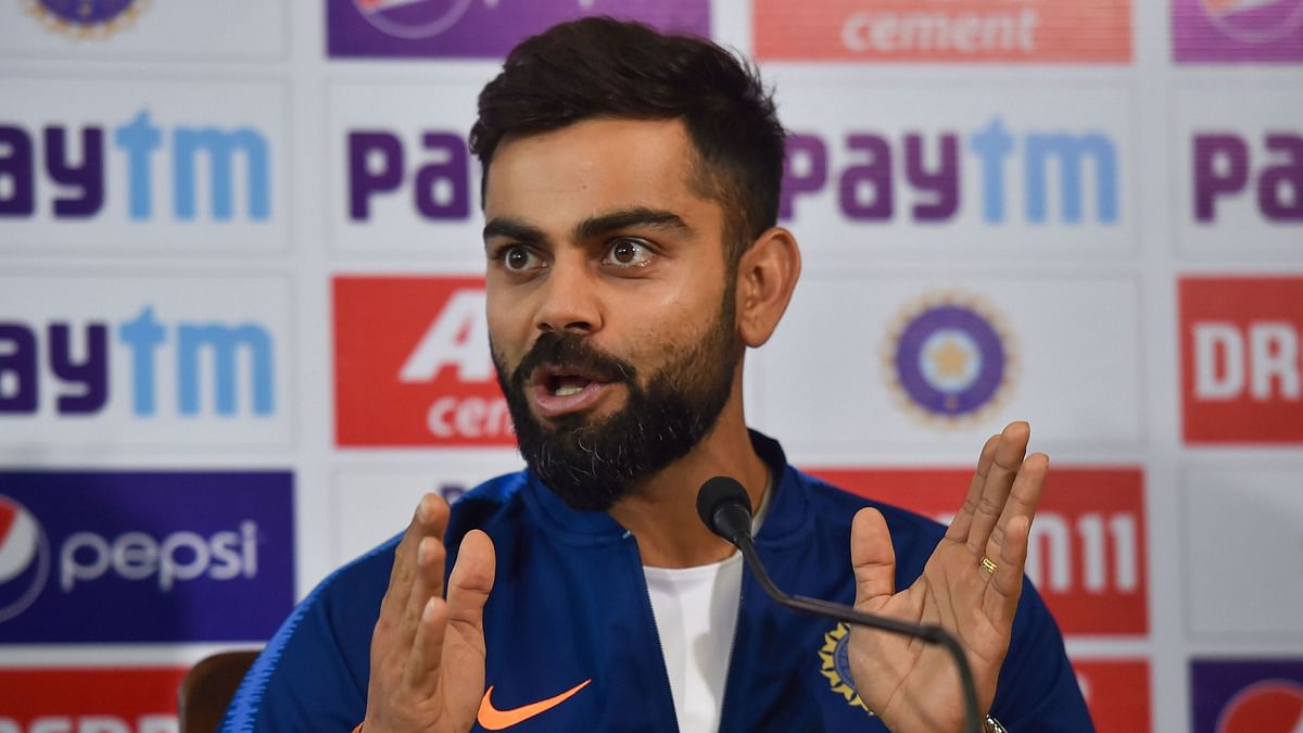 India skipper Virat Kohli addressing Media ahead of the historic day-night test.