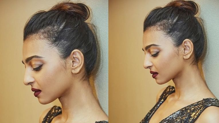 Radhika Apte is absolutely slaying it in  classy shimmery dress