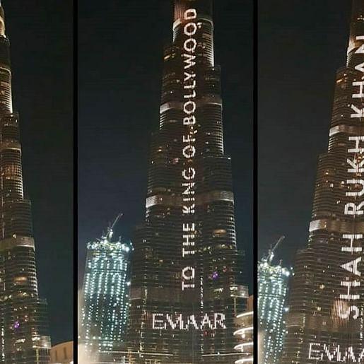 Dubai's Burj Khalifa lit up with Shah Rukh Khan's name on his 54th birthday