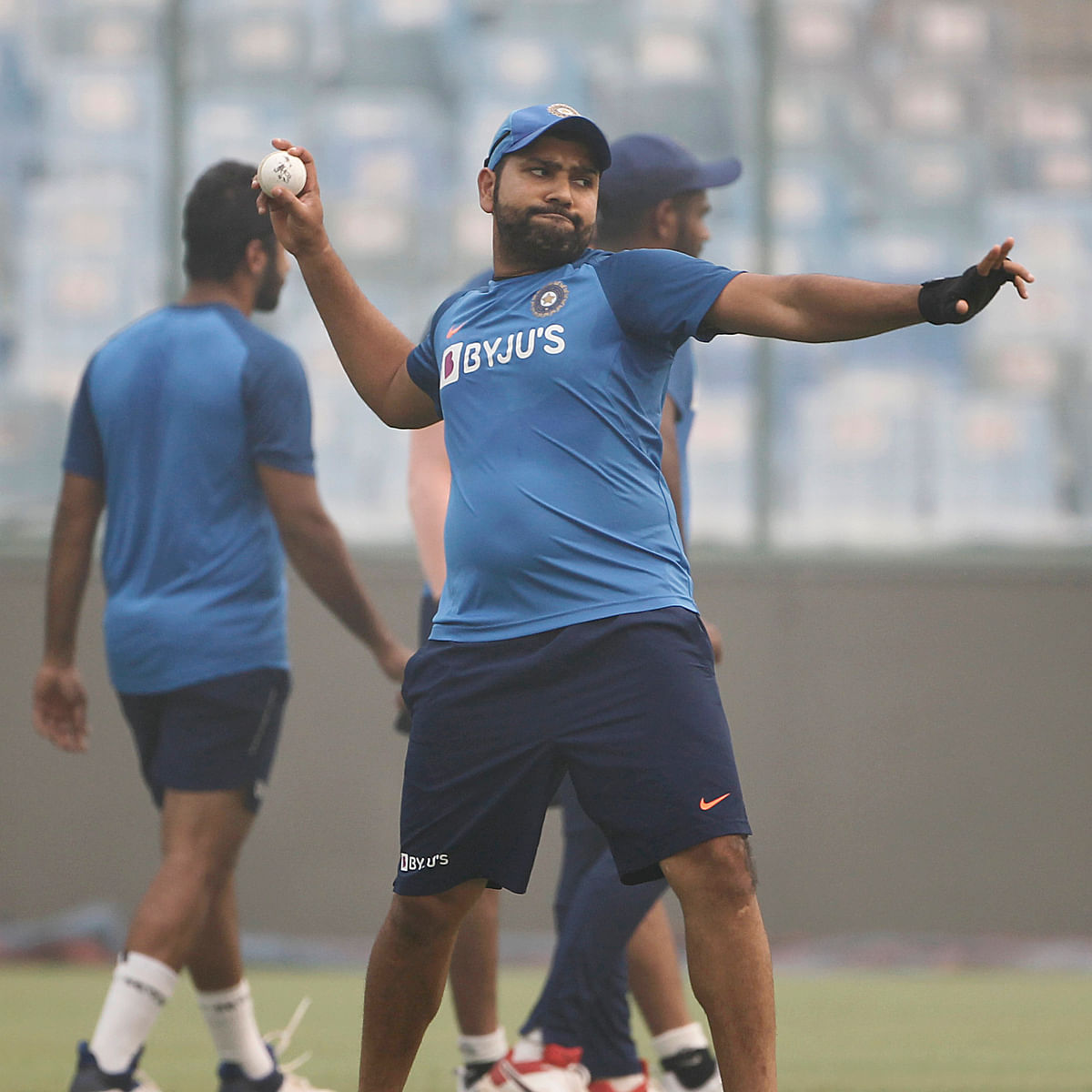 Is 'Hitman' Rohit Sharma trying to be a pace bowler now?