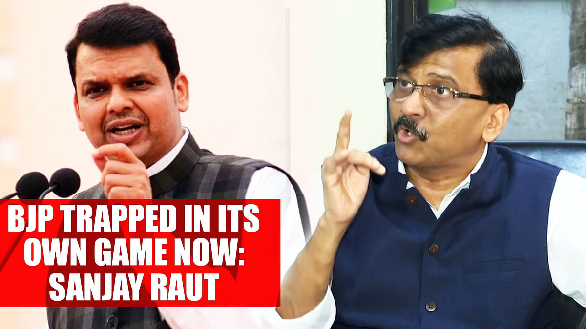 BJP trapped in its own game now: Sanjay Raut
