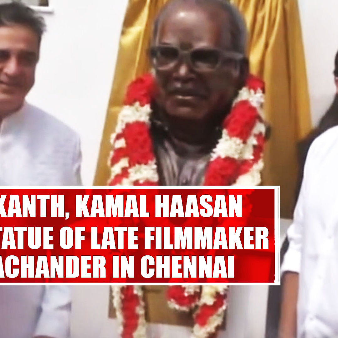 Rajinikanth, Kamal Haasan Unveil Statue Of Late Filmmaker K Balachander In Chennai
