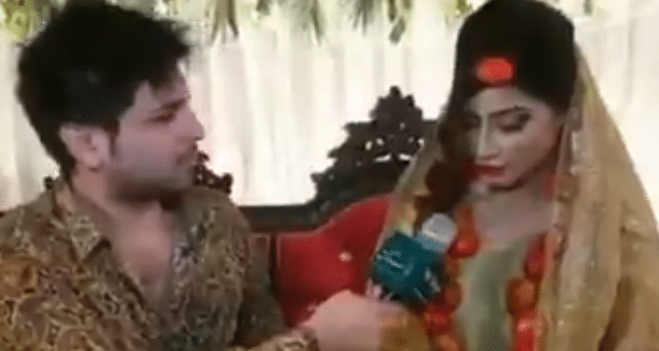 Pakistani bride mocks state of economy, wears tomatoes instead of gold jewellery