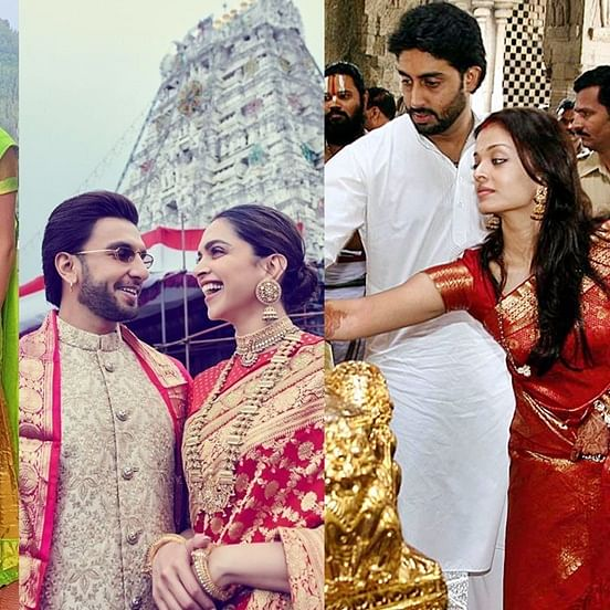 Not just Deepika and Ranveer, these Bollywood celebs also frequently visit Tirumala Tirupati Temple