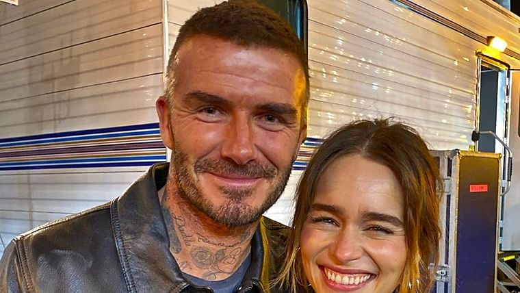 David Beckham 'star struck' after meeting 'Mother of Dragons' Emilia Clarke