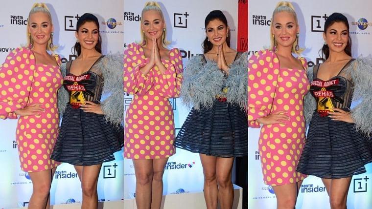 Watch Video: Jacqueline Fernandez teaches Katy Perry how to do 'Namaste'