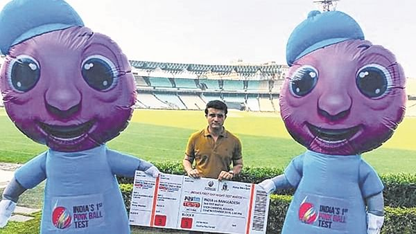 Grand preparations for historic Day-Night Test, Dada unveils 'Pinku-Tinku' — the mascots