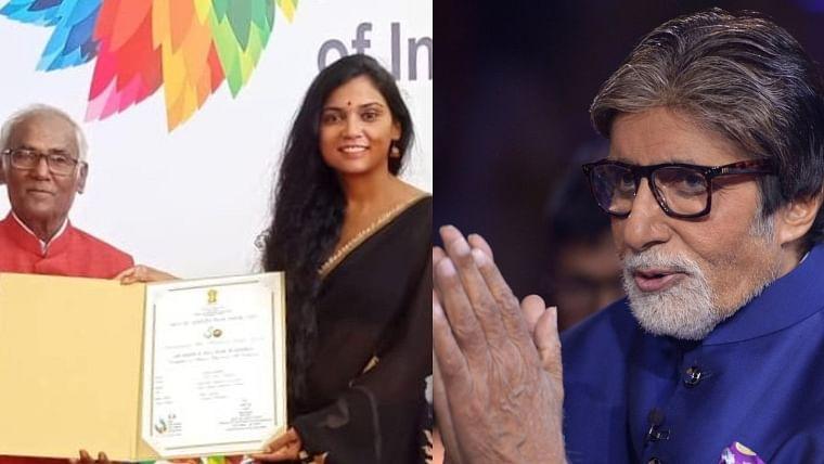 Big B congratulates 'Bhoothnath Returns' co-star Usha Jadhav for winning best actor at IFFI 2019