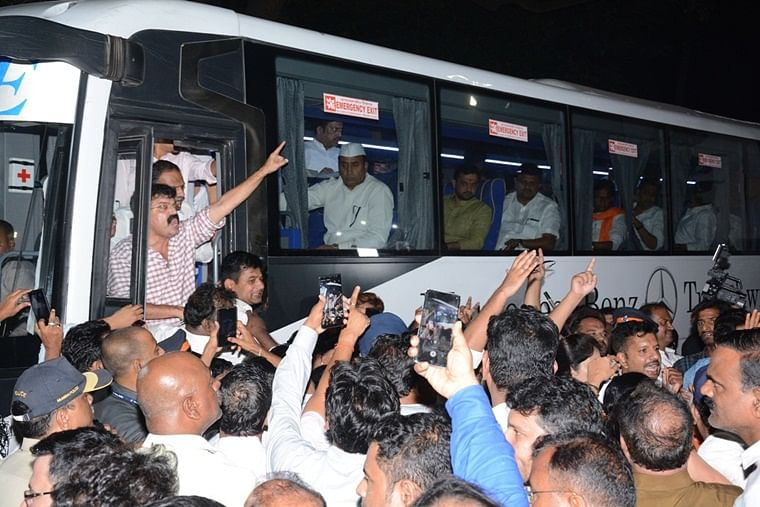Maha Twist: Political circus, MLA groups hop from hotel to hotel