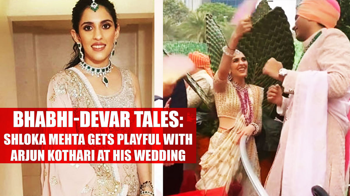 Bhabhi-Devar Tales: Shloka Mehta gets playful with Arjun Kothari at his wedding, watch video