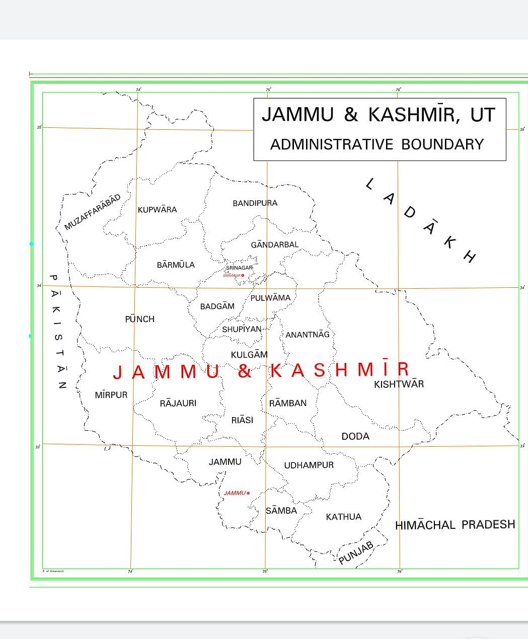 28 states, 9 Union Territories: Check out the new map of India after bifurcation of J&K and Ladakh