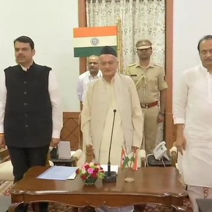 Fadnavis takes oath as Maharashtra CM; NCP's Ajit Pawar becomes Deputy CM