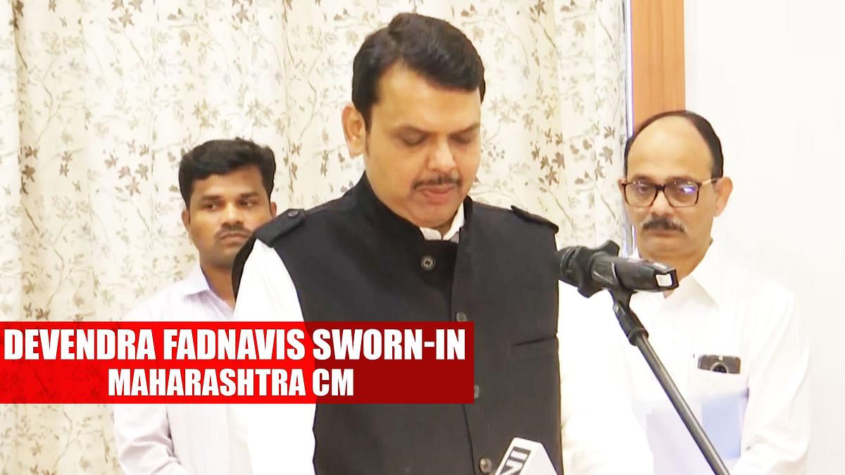 Devendra Fadnavis sworn-in as Maharashtra CM