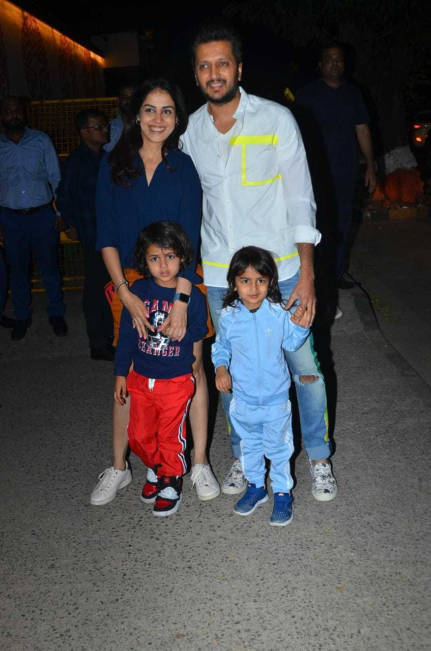 Riteish and Genelia Deshmukh with their sons