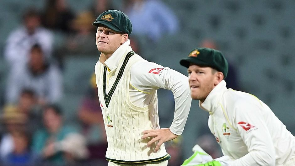 Steve Smith (left) with Australia Test captain Tim Paine