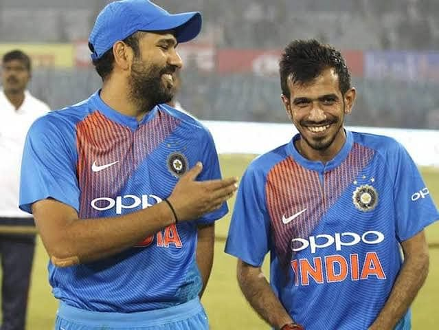 Chahal takes a funny dig at Rohit Sharma, calling him 'youngster'