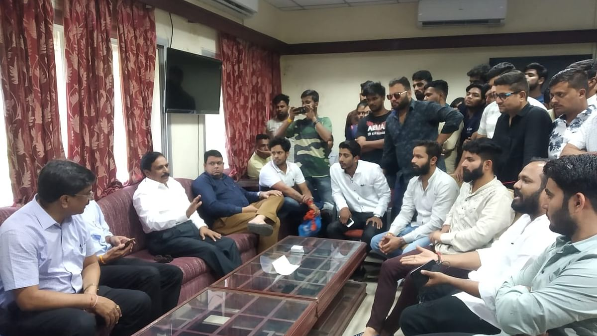 Indore: MSc students' dharna ends as exams postponed