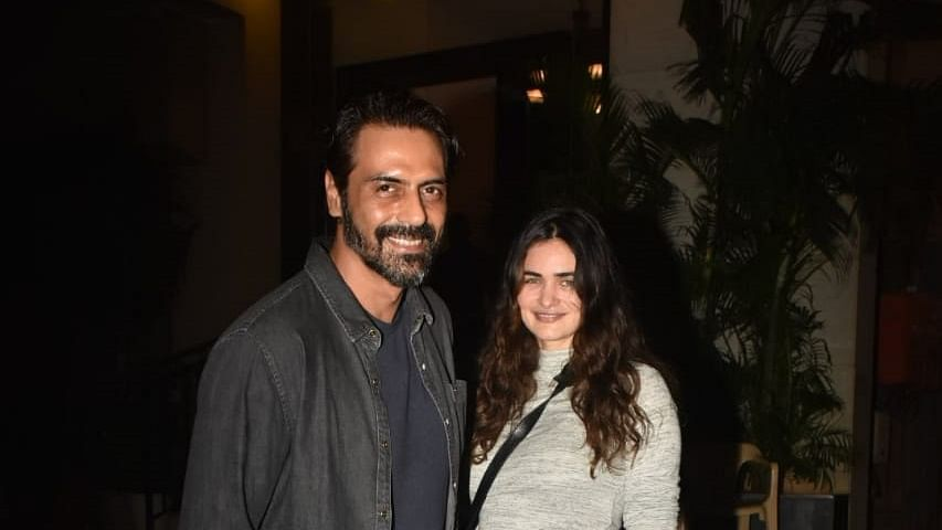 Arjun Rampal and his girlfriend Gabriella