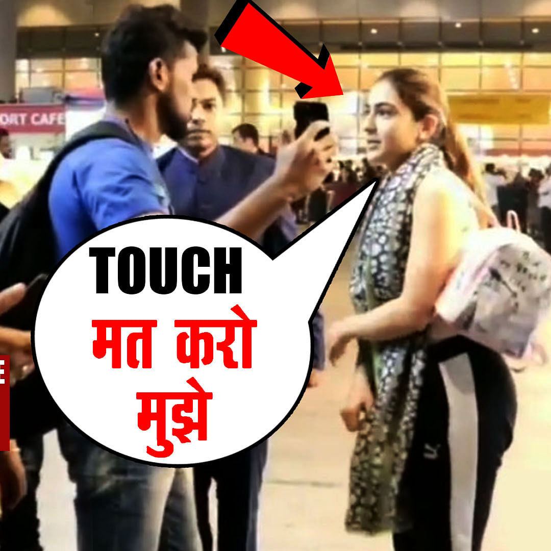 Sara Ali Khan gets uncomfortable after a fan touches her inappropriately at the airport