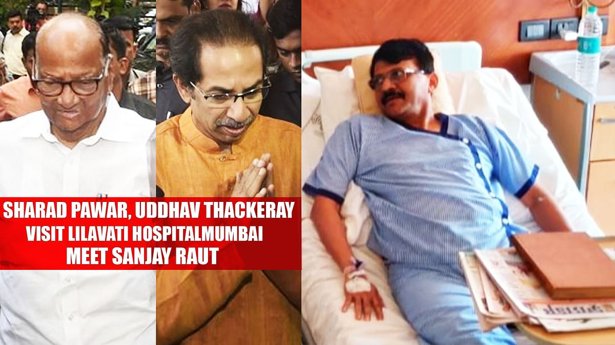 Sharad Pawar, Uddhav Thackeray Meet Sanjay Raut In Lilavati Hospital