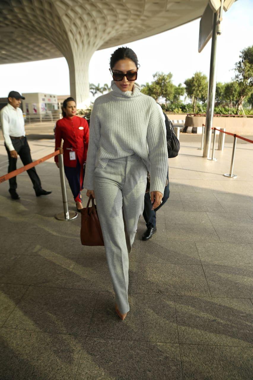 Airport Diaries: Deepika Padukone jets off in a stylish ensemble