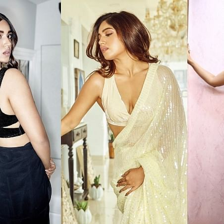 Bhumi Pednekar sets internet on fire with these stunning saree pics