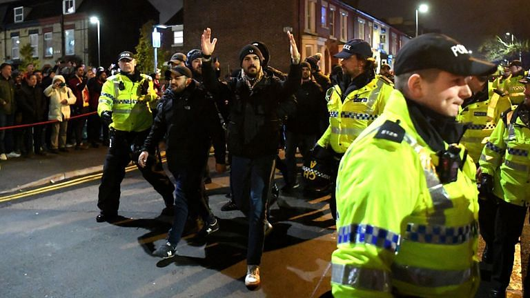 Napoli fans arrested taken by cops at Anfield ahead of Wednesday's Champions League fixture