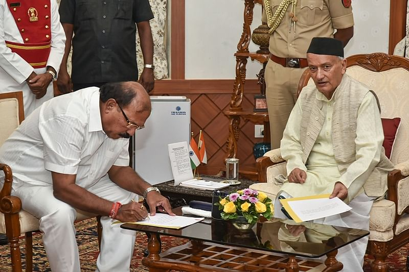 Kalidas N Kolambkar sworn-in as pro tem Speaker