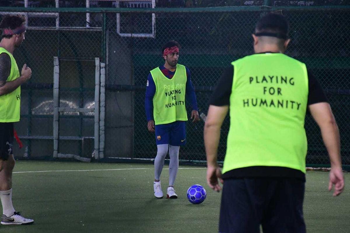 Ranbir Kapoor and Arjun Kapoor sweat it out on football field