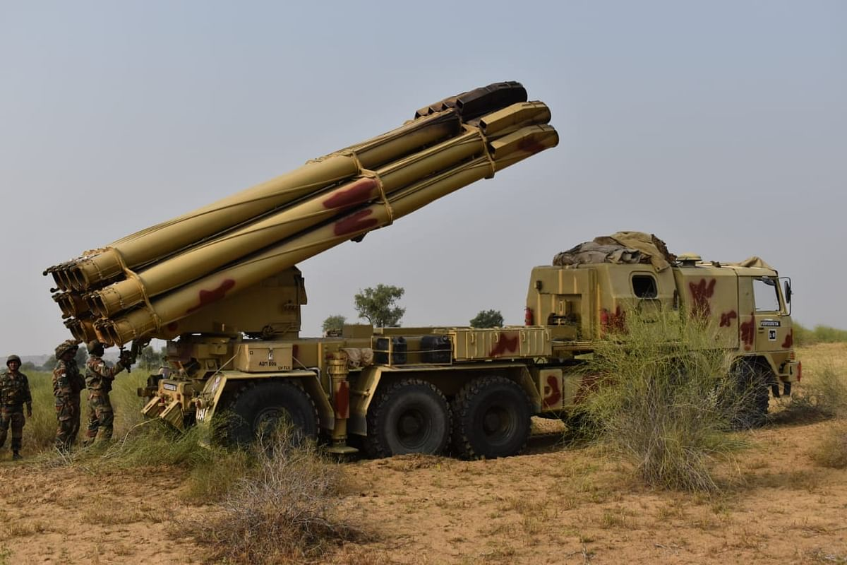 Smerch Rocket System displays Shoot and Scoot capability during Ex- Sindhu Sudarshan.