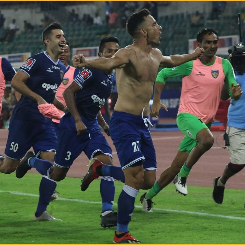 Watch: Abhishek Bachchan loses his mind as Chennaiyin win thriller against Hyderabad FC