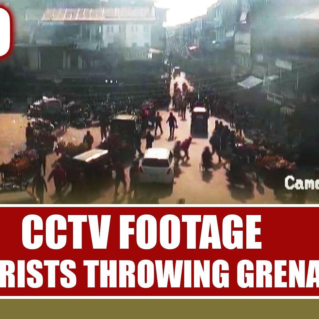 Watch CCTV Footage Of Terrorists Throwing Grenade In Srinagar's Market