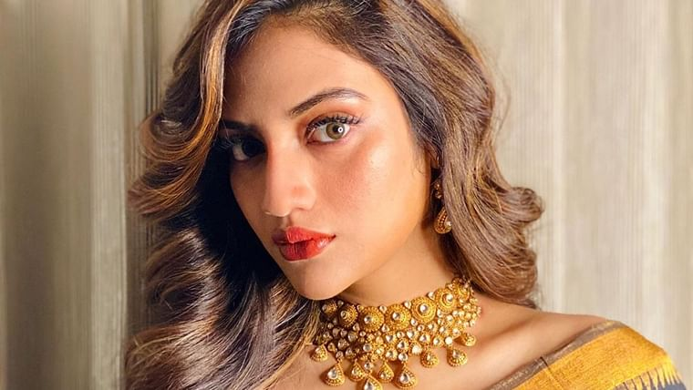 Nusrat Jahan is an ethnic goddess as she flaunts her 'six yards of grace'