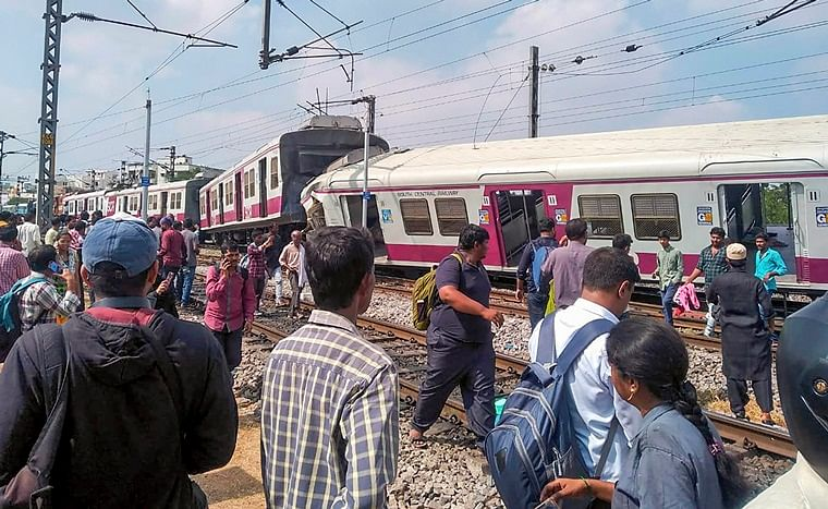 Watch: CCTV footage of two trains colliding in Hyderabad
