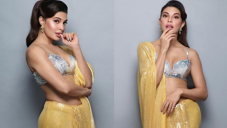 After Bhumi and Tara, Jacqueline Fernandez is pure sunshine in her 'sexy saree' version