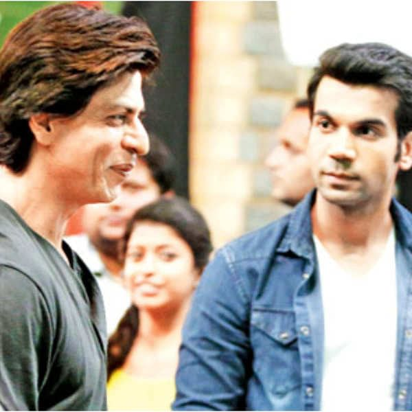 When real Raj met reel Raj: Shah Rukh Khan kisses his super fan Rajkummar Rao