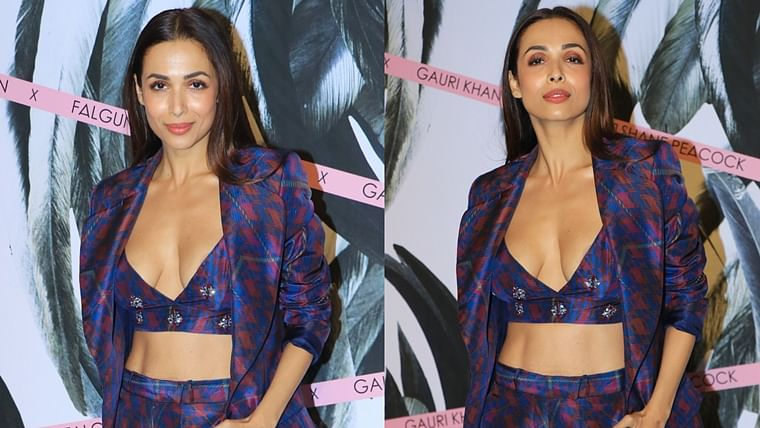 Video: Malaika Arora's nipple sticker shows up in risque outfit with plunging neckline