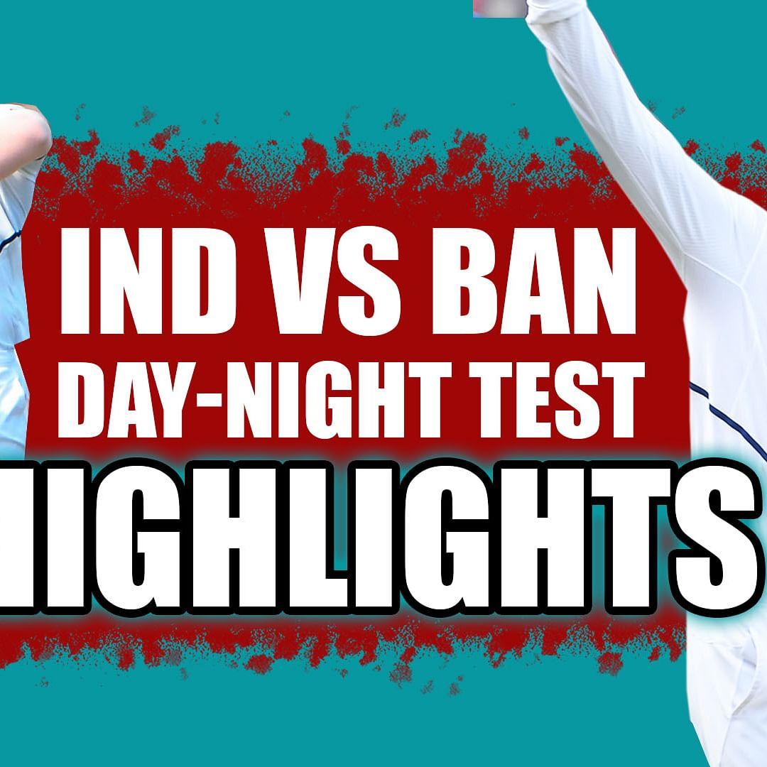 IND vs BAN  Day - Night Test Match 2019 | Highlights | India thrash Bangladesh in Pink Ball Test