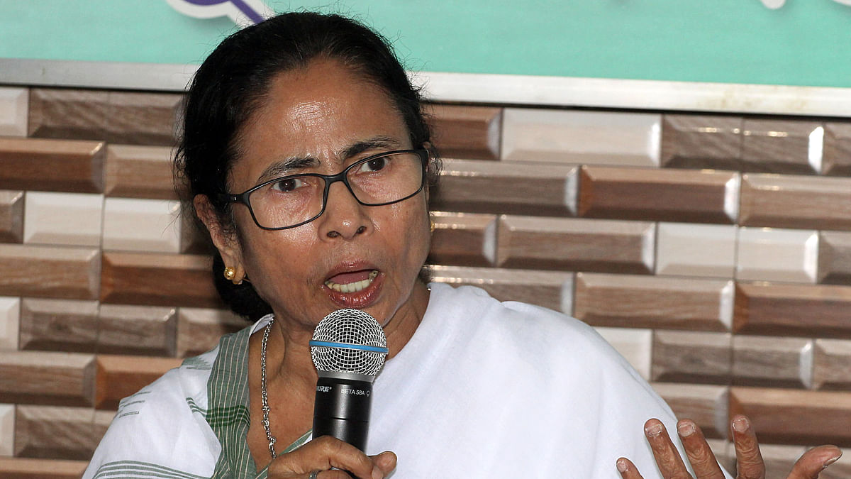 West Bengal, Nov 07 (ANI): Chief Minister of West Bengal Mamata Banerjee addresses during a meeting with party MPs, MLAs and party leaders at party headquarters in Kolkata.