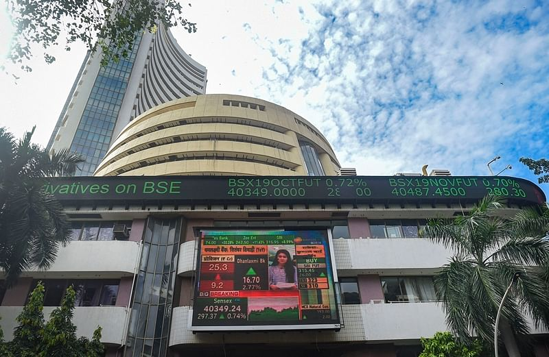 Sensex rallies 175 pts to hit record high; Nifty tests 12,100