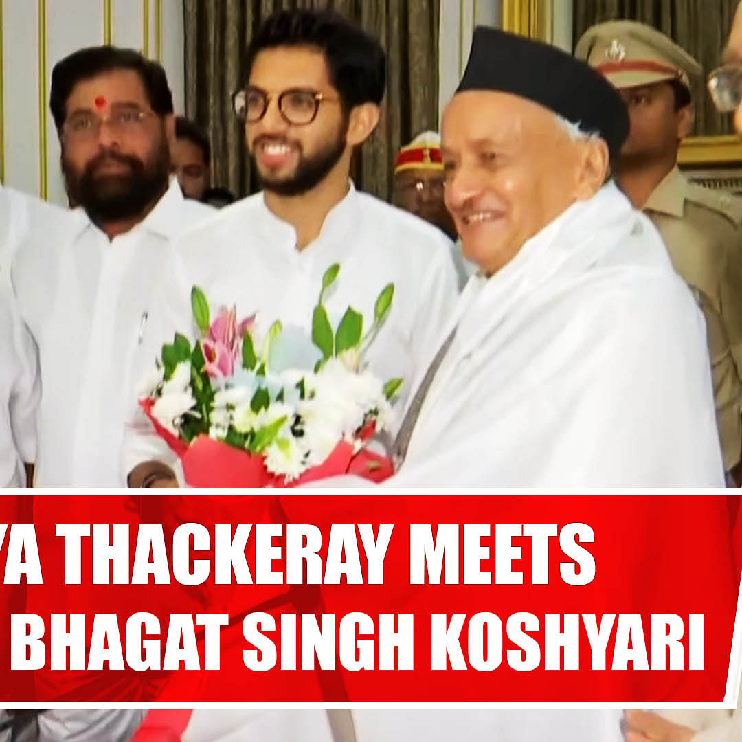 A Delegation From Shiv Sena Leader Aditya Thackeray Met Governor Bhagat Singh Koshyari At Raj Bhavan