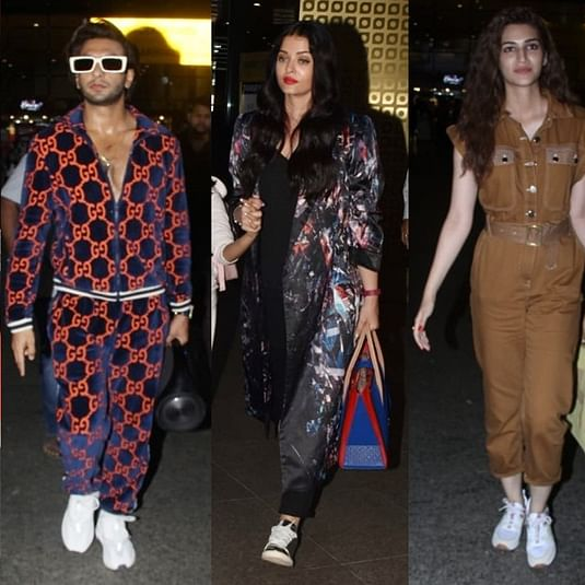 Alia, Ranveer, Aishwarya, Kriti are unbeatable in their airport fashion game