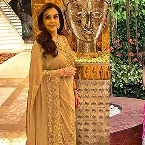 Saas-Bahu Fashion Face-off: Nita Ambani and Radhika Merchant stun in traditional ensemble