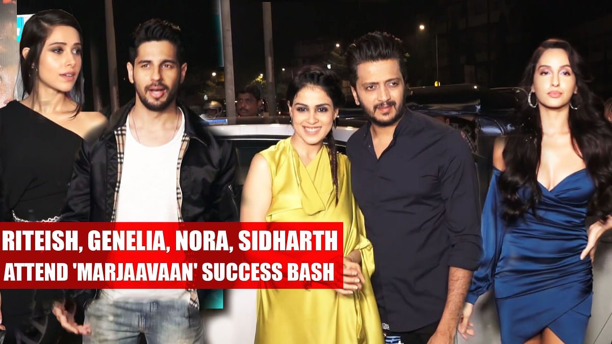 Riteish, Genelia, Nora, Sidharth attend 'Marjaavaan' success bash