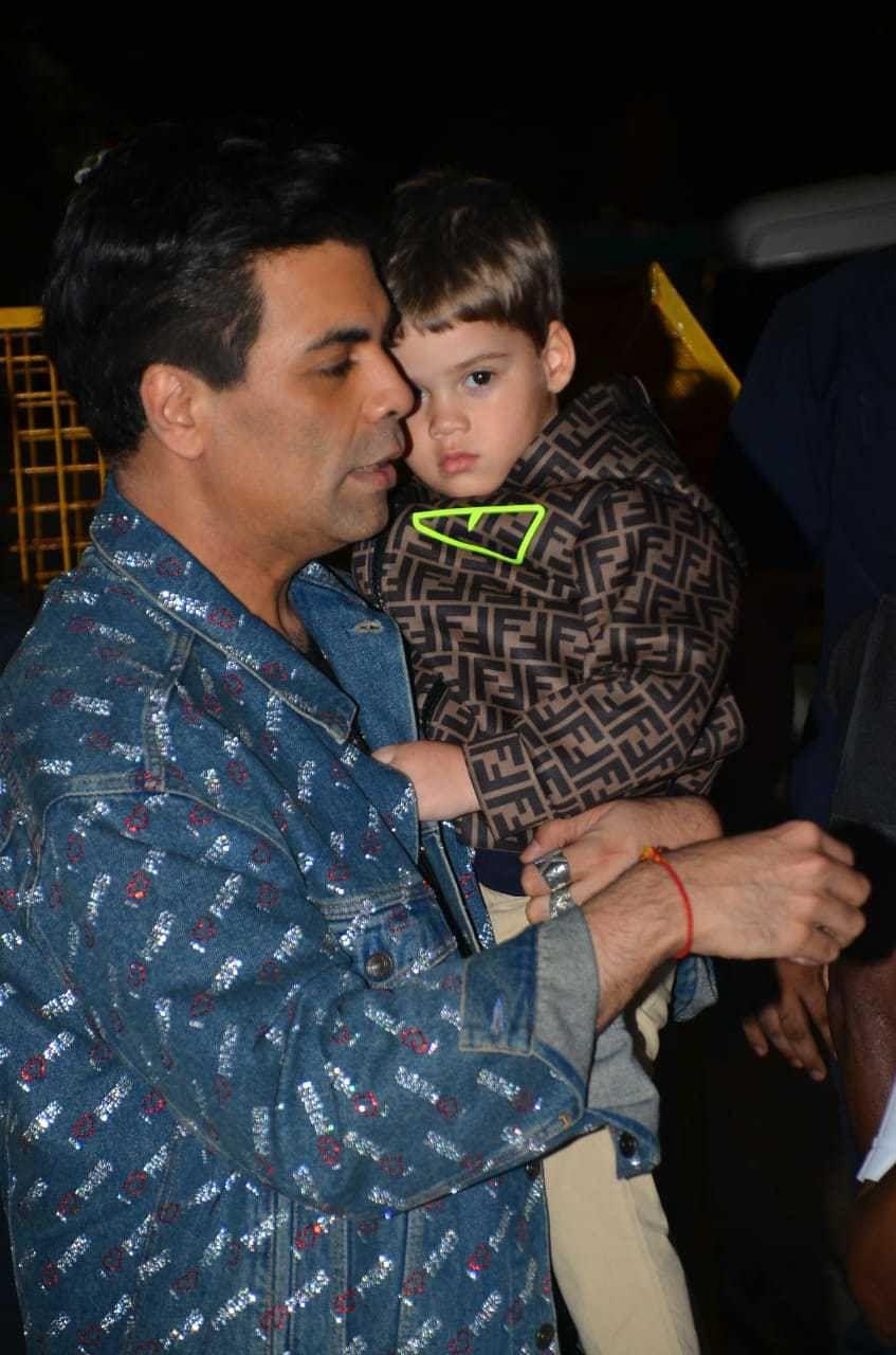 Karan Johar with son Yash