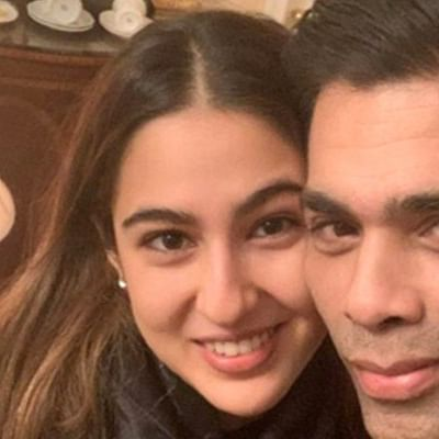 Sara Ali Khan and Karan Johar's beaming selfie in NY will take away your Monday blues
